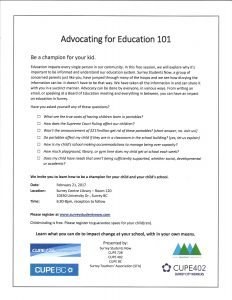 Advocating for Education Forum @ Surrey Centre Library -Rm 120 | Surrey | British Columbia | Canada