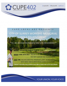 City of Surrey Workers Memorial Golf Tournament @ Guildford Golf & Country Club | Surrey | British Columbia | Canada