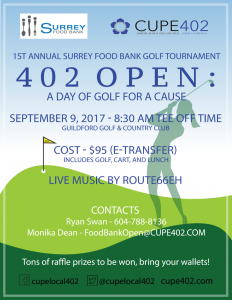 402 Open: A day of Golfing for a Cause @ Guildford Golf & Country Club | Surrey | British Columbia | Canada