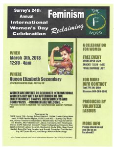 Surrey's 24th Annual International Women's Day Celebration @ Queen Elizabeth Secondary | Surrey | British Columbia | Canada