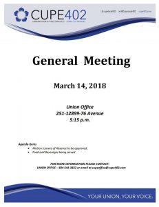 Union Meeting @ Union Office | Surrey | British Columbia | Canada