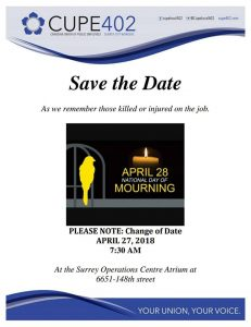 Day of Mourning Ceremony @ Operation Centre | Surrey | British Columbia | Canada