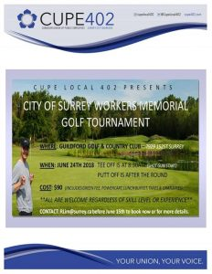 City of Surrey Workers Memorial Golf Tournament @ Guilford Golf & Country Club | Surrey | British Columbia | Canada