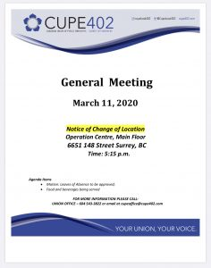 March Membership Meeting @ Surrey Operations Centre